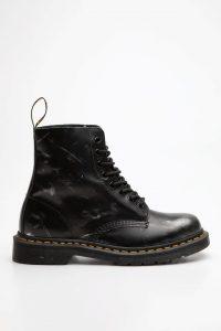 נעליים דר מרטינס  לגברים DR Martens 1460 BRUSH OFF LEATHER ANKLE BOOTS - שחור