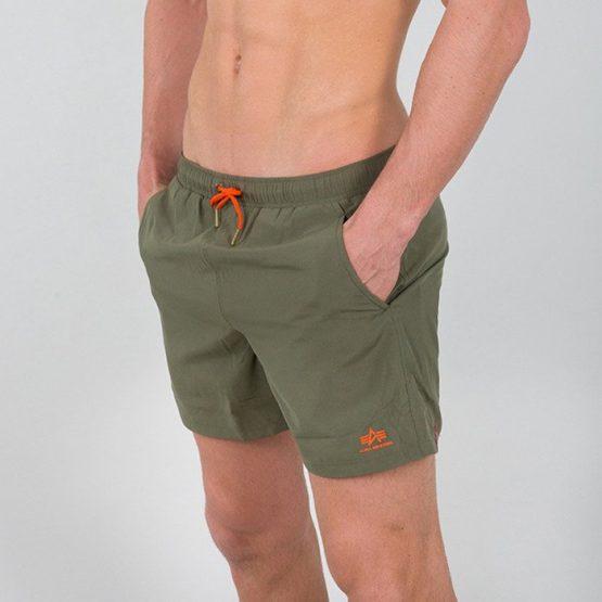 בגד ים אלפא אינדסטריז לגברים Alpha Industries Basic Swim - ירוק
