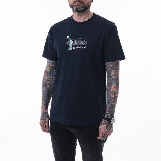 ביגוד HUF לגברים HUF Gift Shop S - כחול כהה