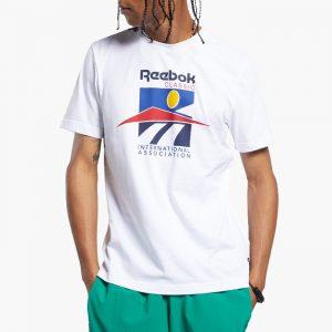 ביגוד ריבוק לגברים Reebok International Tee - לבן