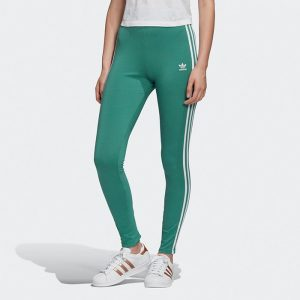 ביגוד Adidas Originals לנשים Adidas Originals 3-Stripes Tight - ירוק