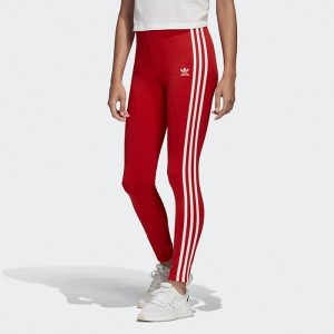ביגוד Adidas Originals לנשים Adidas Originals 3-Stripes Tight - אדום