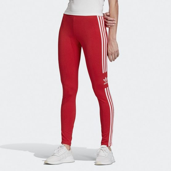 ביגוד אדידס לנשים Adidas Trefoil Tight - אדום