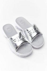 נעליים פילה לנשים Fila DISRUPTOR SLIDE METALLIC - לבן/כסף
