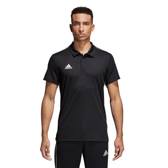 חולצת פולו אדידס לגברים Adidas Core 18 - שחור