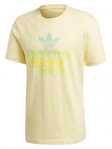 ביגוד אדידס לגברים Adidas SHATTERED LOGO - צהוב