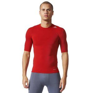 ביגוד אדידס לגברים Adidas TF Base - אדום