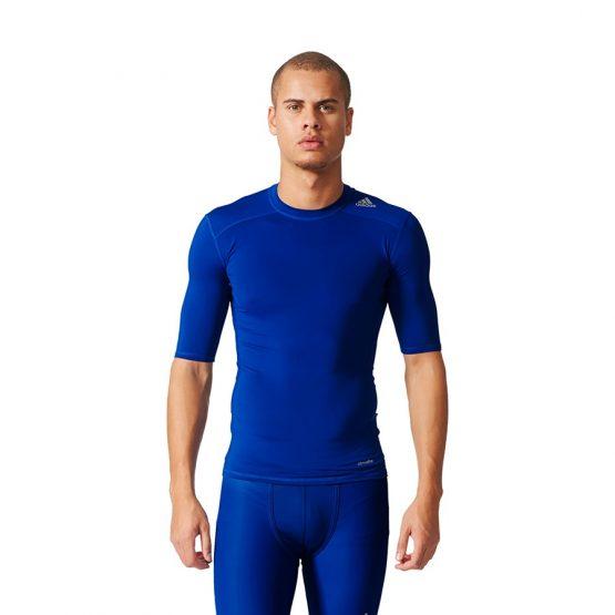ביגוד אדידס לגברים Adidas Tech Fit Base - כחול