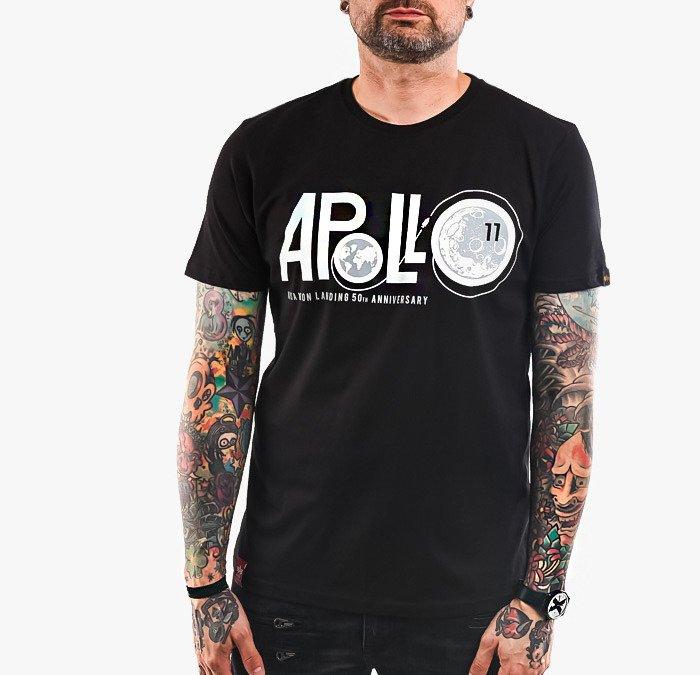 ביגוד אלפא אינדסטריז לגברים Alpha Industries Apollo Moon Landing 50 - שחור