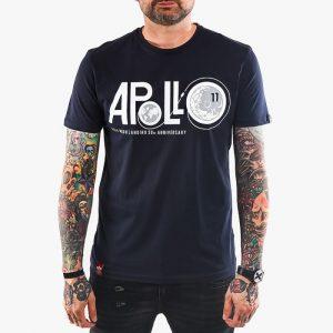 ביגוד אלפא אינדסטריז לגברים Alpha Industries Apollo Moon Landing 50 - כחול כהה