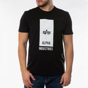ביגוד אלפא אינדסטריז לגברים Alpha Industries Block Logo - שחור