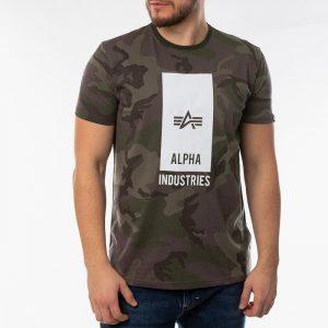 ביגוד אלפא אינדסטריז לגברים Alpha Industries Block Logo - חום הסוואה