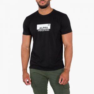 ביגוד אלפא אינדסטריז לגברים Alpha Industries Box Logo - שחור