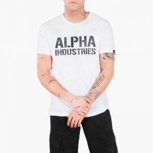 ביגוד אלפא אינדסטריז לגברים Alpha Industries Camo Print - לבן