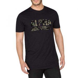 ביגוד אלפא אינדסטריז לגברים Alpha Industries Camo Print - שחור