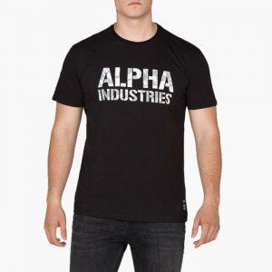 ביגוד אלפא אינדסטריז לגברים Alpha Industries Camo Print - שחור/לבן