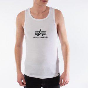 ביגוד אלפא אינדסטריז לגברים Alpha Industries Logo Tank - לבן