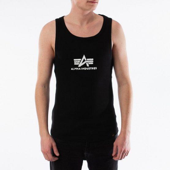 ביגוד אלפא אינדסטריז לגברים Alpha Industries Logo Tank - שחור