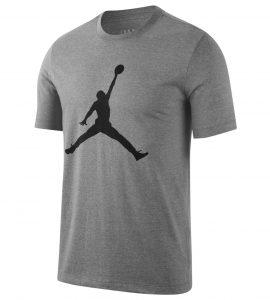 ביגוד נייק לגברים Nike M J JUMPMAN SS CREW - אפור