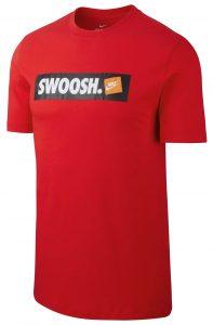 ביגוד נייק לגברים Nike SWOOSH BMPR - אדום