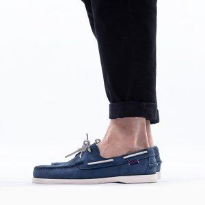 נעליים Sebago לגברים Sebago Docksides Portland Nubuck - כחול כהה