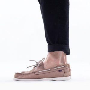 נעליים Sebago לגברים Sebago Docksides Portland Nubuck - בז'
