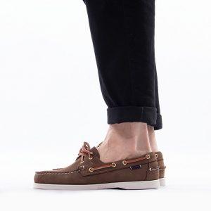 נעליים Sebago לגברים Sebago Docksides Portland Nubuck - חום