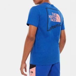 ביגוד דה נורת פיס לגברים The North Face Extreme Tee - כחול