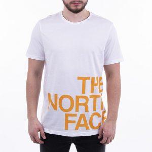 ביגוד דה נורת פיס לגברים The North Face Graphic Flow - לבן