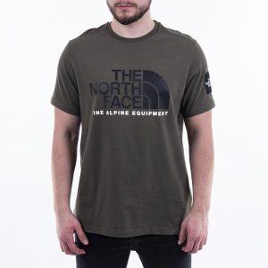 ביגוד דה נורת פיס לגברים The North Face S/S Fine Alpine 2 - ירוק