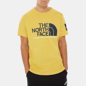 ביגוד דה נורת פיס לגברים The North Face S/S Fine Alpine 2 - צהוב