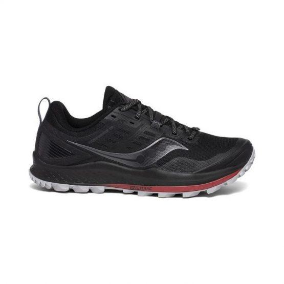 נעליים סאקוני לגברים Saucony PEREGRINE 10 - שחור/אדום