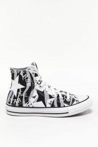 נעליים קונברס לנשים Converse LOGO PLAY - שחור/לבן