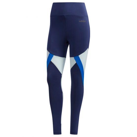 ביגוד אדידס לנשים Adidas Clima Colorblock 7/8 - כחול כהה