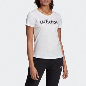 ביגוד אדידס לנשים Adidas Linear - לבן