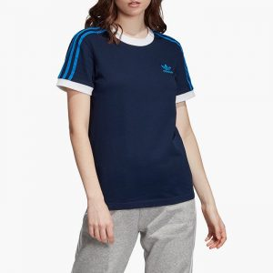 ביגוד Adidas Originals לנשים Adidas Originals Originals 3-Stripes Tee - כחול