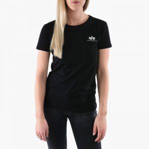 חולצת T אלפא אינדסטריז לנשים Alpha Industries Basic - שחור