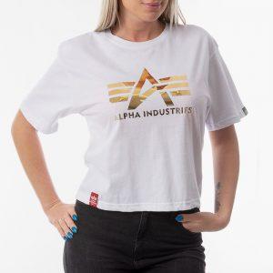 ביגוד אלפא אינדסטריז לנשים Alpha Industries Big A - לבן