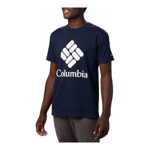 ביגוד קולומביה לגברים Columbia LODGE LOGO - כחול כהה