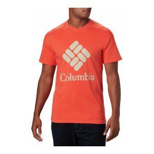 ביגוד קולומביה לגברים Columbia LODGE LOGO - כתום