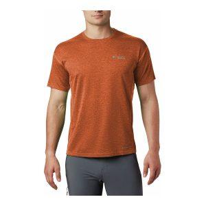 חולצת T קולומביה לגברים Columbia IRICO KNIT CREW - כתום