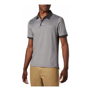 חולצת פולו קולומביה לגברים Columbia Cove Dome Butte Solid Pique Polo - אפור