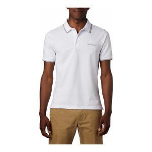 חולצת פולו קולומביה לגברים Columbia Cove Dome Butte Solid Pique Polo - לבן