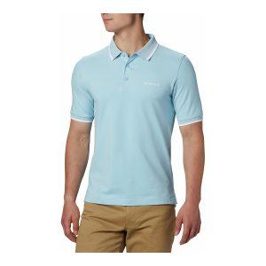 חולצת פולו קולומביה לגברים Columbia Cove Dome Butte Solid Pique Polo - תכלת
