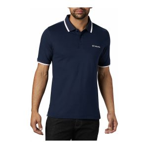 חולצת פולו קולומביה לגברים Columbia Cove Dome Butte Solid Pique Polo - כחול כהה