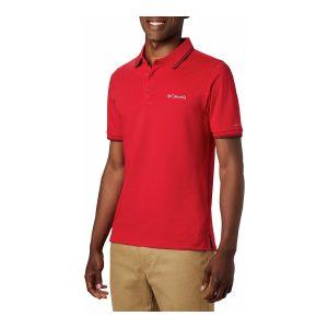 חולצת פולו קולומביה לגברים Columbia Cove Dome Butte Solid Pique Polo - אדום