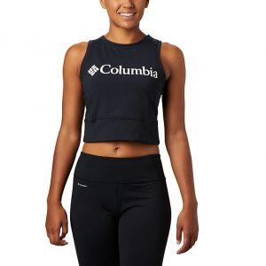 גופיה קולומביה לנשים Columbia Windgates Cropped Tank - שחור/לבן