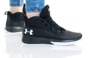 נעליים אנדר ארמור לנשים Under Armour GS LOCKDOWN 4 - שחור/לבן