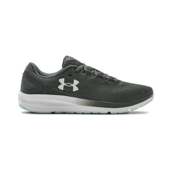 נעלי ריצה אנדר ארמור לנשים Under Armour GS CHARGED PURSUIT 2 - אפור כהה