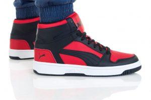 נעליים פומה לגברים PUMA REBOUND LAYUP - שחור/אדום